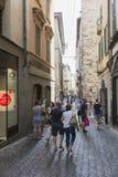 De Oude stad van Bergamo Royalty-vrije Stock Foto's