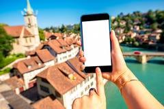 De oude stad van Bern in Zwitserland Royalty-vrije Stock Fotografie
