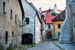 De oude stad van Bratislava Stock Foto's