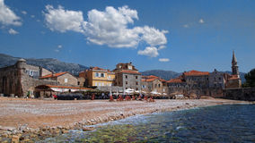 De oude stad van Budva Stock Foto's