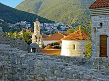 De Oude stad van Budva stock fotografie