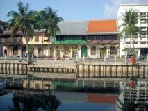 De Oude Stad van Djakarta - Krukut-Rivier 3 royalty-vrije stock afbeeldingen
