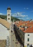 De oude stad van Dubrovnik, Kroatië Stock Foto's