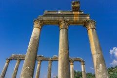 De Oude Stad van Euromoseuromus Soke - Milas-weg, Mugla, Turkije De tempel van Zeus Lepsynos werd gebouwd in de 2de eeuw royalty-vrije stock fotografie