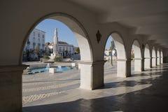 DE OUDE STAD VAN EUROPA PORTUGAL ALGARVE TAVIRA Royalty-vrije Stock Afbeelding