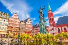 De oude stad van Frankfurt stock afbeelding