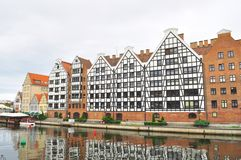 De Oude stad van Gdansk Stock Afbeeldingen