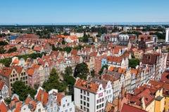 De oude stad van Gdansk, Polen Royalty-vrije Stock Afbeelding