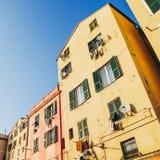 De oude stad van Genua stock afbeeldingen