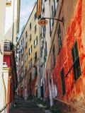 De oude stad van Genua stock fotografie