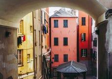De oude stad van Genua stock foto