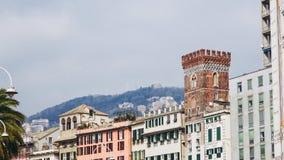 De oude stad van Genua stock foto's