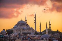 De Oude Stad van Istanboel met de Oude Stad van Istanboel met Bosphorus Stock Fotografie