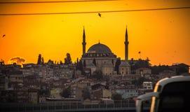 De Oude Stad van Istanboel met de Oude Stad van Istanboel met Bosphorus Royalty-vrije Stock Afbeelding