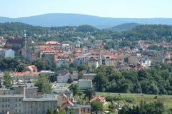 De oude stad van Jeleniagora Stock Afbeeldingen