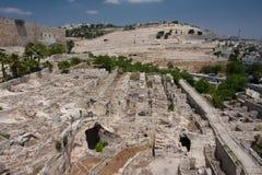 De oude stad van Jeruslaem, Tempel zet op Stock Fotografie