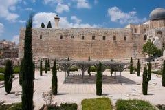 De oude stad van Jeruslaem, Tempel zet op Stock Afbeelding