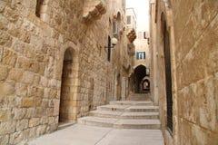 De oude stad van Jeruzalem stock foto's