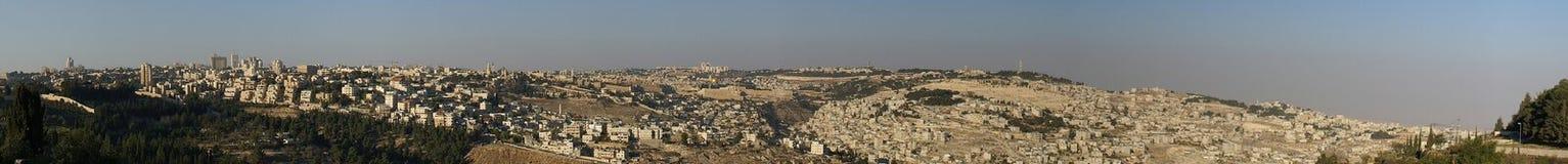 De oude stad van Jeruzalem - panorama Royalty-vrije Stock Afbeelding