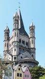De oude stad van Keulen Stock Foto