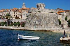 De oude stad van Korchula, Kroatië. Stock Afbeelding