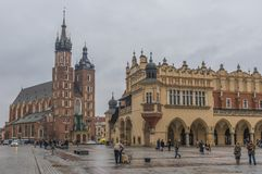 De Oude Stad van Krakau, Polen royalty-vrije stock foto