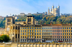 De oude stad van Lyon, Lyon, Frankrijk Royalty-vrije Stock Foto's