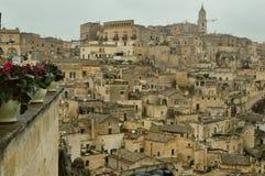 De oude stad van Matera Stock Foto