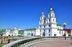 De oude stad van Minsk Stock Foto's