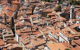 De oude stad van Nice van hierboven Royalty-vrije Stock Foto's