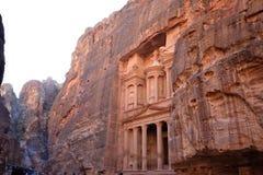 De oude stad van Petra, Jordanië stock foto's