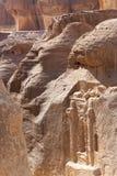 De oude stad van Petra, Jordanië. Stock Foto's