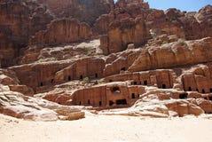 De oude stad van Petra jordanië Stock Afbeelding