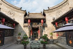 De Oude Stad van Ping Yao stock afbeeldingen