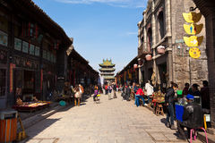 De Oude Stad van Pingyao in China Stock Fotografie