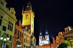 De Oude Stad van Praag, Tsjechische Republiek Stock Afbeeldingen
