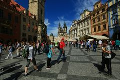 De Oude Stad van Praag in de vroege Zomer - Tsjechische Republiek royalty-vrije stock fotografie