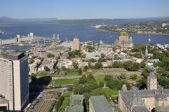 De Stad van Quebec in de zomer, Canada Royalty-vrije Stock Fotografie