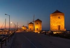 De oude stad van Rhodos Royalty-vrije Stock Afbeelding