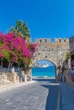 De oude stad van Rhodos Stock Afbeelding