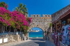 De oude stad van Rhodos Royalty-vrije Stock Fotografie