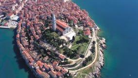 De oude stad van Rovinj stock video
