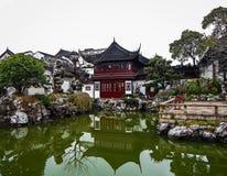 De Oude Stad van Shanghai De Tuinen van Yuyuan Shanghai, China royalty-vrije stock foto