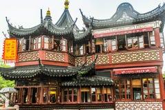 De oude stad van Shanghai, tuinen Yuyuan stock fotografie
