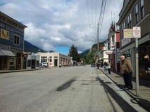 De oude stad van Skagway, het gebied van de binnenstad royalty-vrije stock fotografie