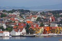De Oude Stad van Stavanger Royalty-vrije Stock Fotografie
