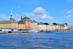 De Oude Stad van Stockholm Stock Afbeeldingen