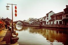 De oude stad van Suzhoutongli Royalty-vrije Stock Afbeeldingen