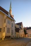 De oude stad van Tallinn scappe stock foto's