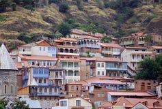 De oude stad van Tbilisi Stock Foto's